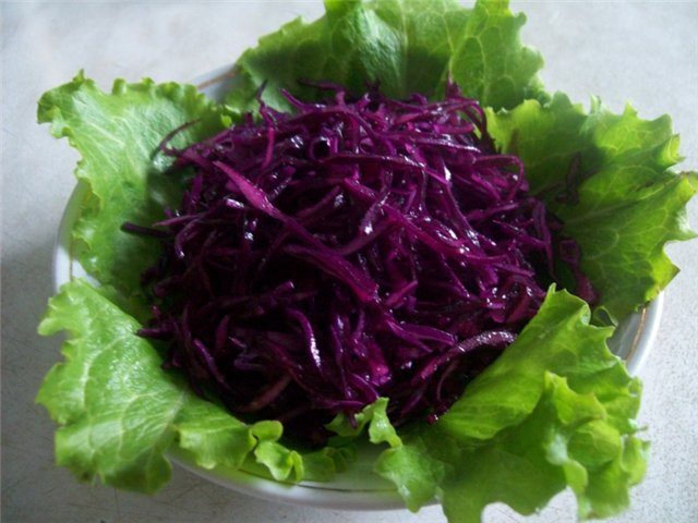 Блюда из краснокочанной капусты рецепты простые и вкусные 4
